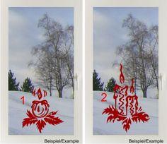 Weihnachtliche Kerzen -Designwahl- Fenster-Tattoo von DOON Germany auf DaWanda.com