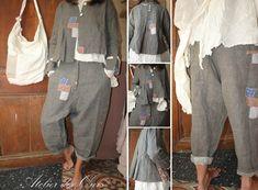 MLLE GAVOTINE : veste et pantalon gris EWA IWALLA