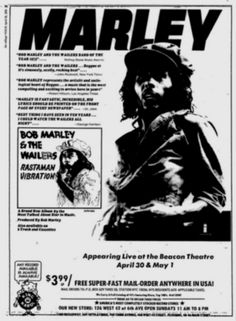 Bob Marley And The Wailers -  Voice Of The Sufferers  - Memorabilia Tour Posters