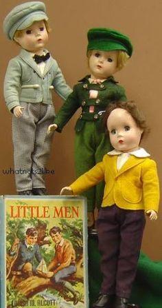 "~ Hard Plastic Madame Alexander ""Little Men"" Dolls ~ (1950's)"