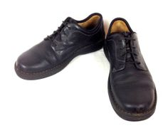CLARKS-Shoes-LEATHER-Black-WALKING-Lace-Up-ATHLETIC-Oxfords-COMFORT-Mens-10-5-M