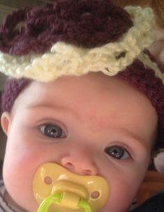 Crochet Burgandy and cream baby/Infant crochet by LLCatsCrochet, $8.00