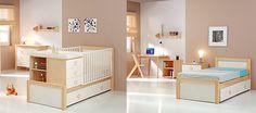 Los bebés crecen rápidísimo y pronto pasan de la cuna a la camita infantil. Para ahorrarte la compra de estos dos muebles la decoración pone a tu servicio las cunas 2 en 1 convertibles en camita infantil. ¡Súper útiles! En el programa Decogarden de esta semana nos enseñan cómo decorar con ellas una habitación infantil … Ikea, Baby Furniture, Loft, Design, Home Decor, Infant Bed, Kids Rooms, Cribs For Babies, Convertible Furniture