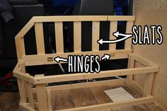 End part of bed with hinged lid