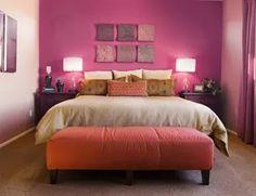 Wandgestaltung Schlafzimmer Rosa