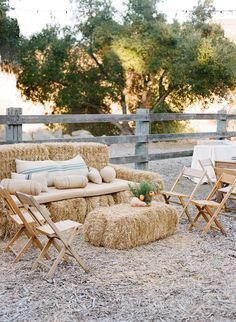 Hay Bale Seating, Ceremony Seating, Outdoor Ceremony, Outdoor Wedding Seating, Lounge Seating, Wedding Lounge, Farm Wedding, Rustic Wedding, Boho Wedding