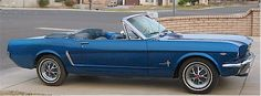 1965 Ford Mustang, Profile from passenger's side, exterior. So COOL!!! Ahhhhhhhh <3