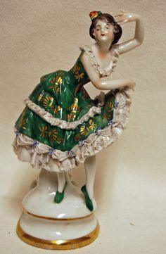 Rare Volkstedt Dancer German Dresden Porcelain Figurine Ballerina Spanish #Volkstedt
