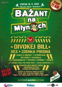 Vetroplach a iní Festival Bažant na Mlynoch 2012 Bratislava - Mlynská dolina Bratislava, Live Music, 18th, Comic Books, Posters, Fun, Postres, Comic Book, Banners