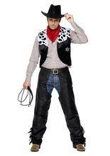 Cowboy Kostüm-Set Western schwarz-weiss-rot aus unserer Kategorie Karnevalskostüme Klassiker. Ein super cooler Cowboy, der mit seinem Lasso auch die wildesten Stuten zügelt. Mit diesem Faschingskostüm für Herren ziehen Sie die Blicke auf sich, so viel ist sicher!