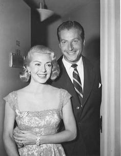 Lex Barker with Lana Turner, married 1953-1957.