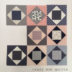 crazy mom quilts: Quilt/Block Tutorials Economy block