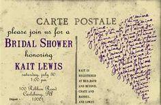 Bridal shower, vintage, post card