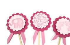 Baby Girl Shower, Cupcake Toppers, Party Picks, Baby Shower, New Baby, Baby Shower Cupcake, Baby Shower Decor, Set of 12 Toppers - http://babyshower-cupcake.com/baby-girl-shower-cupcake-toppers-party-picks-baby-shower-new-baby-baby-shower-cupcake-baby-shower-decor-set-of-12-toppers/