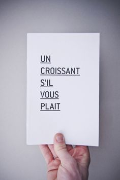 """all you need to know . . . and perhaps """"un pain au chocolat, s'il vous plait"""" as well :)"""