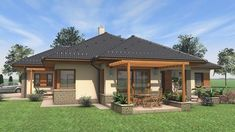 Modern Family House, Family House Plans, House Floor Plans, Gazebo, Pergola, Building Materials, Ideal Home, Sweet Home, Outdoor Structures
