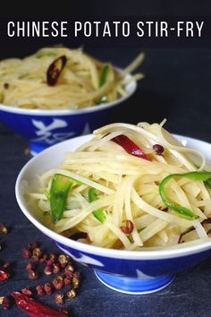 Crunchy, thin strips flavoured with tangy spices, Chinese potato stir-fry shows you an exciting way to prepare potatoes. #redhousespice Easy Asian Recipes, Vietnamese Recipes, Thai Recipes, Drink Recipes, Vegan Recipes, Cooking Recipes, Potato Dishes, Savoury Dishes, A Food
