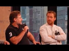 Ryan Gosling, Russell Crowe & Matt Bomer: Nice Guys at Aol Build: Part 2 - YouTube
