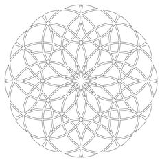 Printable Mandalas Coloring Pictures 3d Mandala Coloring Book ...