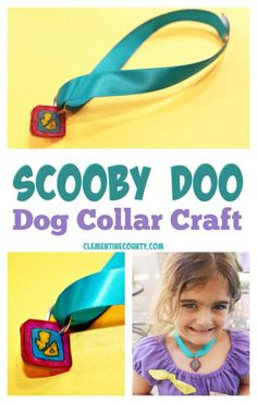 This easy Scooby Doo Dog Collar Craft is perfect for a party or movie night project. Scooby Doo Dog, Scooby Doo Movie, Free Disney Coloring Pages, Coloring Pages For Kids, Amazing Race Party, Headband Crafts, Earth Day Crafts, Dog Collar Tags, Crime
