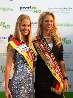 Miss Germany 2012 und 2013 auf der CeBIT in Hannover