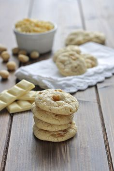 Cookies al cioccolato bianco e noci macadamia - white chocolate cookies with Macadamia Nuts