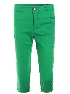 Natural Waist Solid Color Skinny Capris Casual Pants Without Belt Bottoms For Sale on buytrends.com