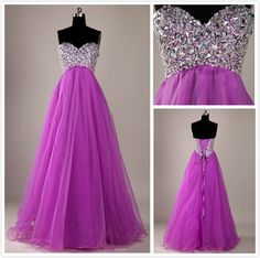Custom Made A line Long Purple Floor Length Sweetheart Prom Dresses,Dresses for prom,purple prom dresses,Cheap Long Purple Prom Dresses 2014 on Etsy, $178.99