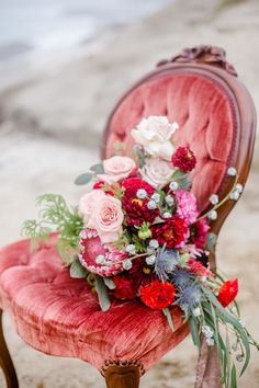 Feminine wedding bouquet, bright red and pink roses, protea, romantic florals // Great Woodland Photography Card Box Wedding, Red Wedding, Wedding Table, Floral Wedding, Wedding Colors, Wedding Bouquets, Wedding Flowers, Luxe Wedding, Wedding Dresses