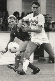 Stewart McKimmie of Aberdeen and Mike Conroy of Clydebank.