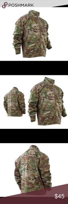 Tru-Spec 24-7 Men's Multicam Windbreaker size L Made of Nylon/Spandex fabric this windbreaker is highly breathable, lightweight, and water resistant. This windbreaker is built for law enforcement for use in high energy and daily work situations and provides enough stretch to allow the use of ballistic vests or holstered firearms.Lightweight, water resistant fabric Left chest internal pocket with zip closure Two lower hand pockets with zip closure Hemmed cuff with gathered elastic Hemmed…