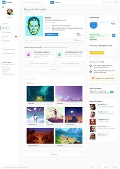 Linkedin profile redesign