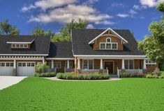 House Plan 7806-00005 - Craftsman Plan: 3,039 Square Feet, 3 Bedrooms, 2.5 Bathrooms