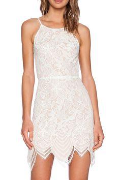 Off White Lace Backless Mini Dress - OASAP.com