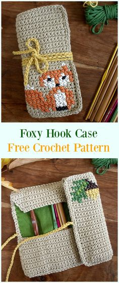 Crochet Foxy Crochet Hook Case Free Pattern- & Holders Free Patterns Crochet Hook Case & Holders Free Patterns: Cupcake hook holder, hook basket, hook organizer, hook case for travel and Diy Crochet Hook Case, Crochet Hook Sizes Chart, Diy Knitting Needle Case, Bag Crochet, Crochet Shell Stitch, Crochet Gifts, Crochet Hooks, Knitting Needles, Crochet Afghans