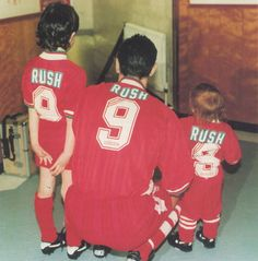 Triple Rush Liverpool Football Club, Liverpool Fc, Ian Rush, Chester City, You'll Never Walk Alone, Retro Football, Leeds, Newcastle, Football Players
