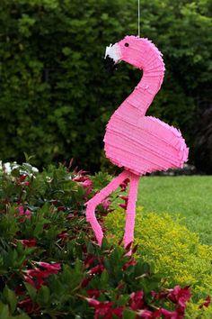 DIY this flamingo piñata for your next summer bash.