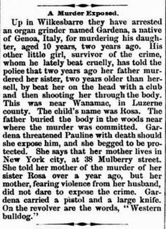 Genealogical Gems: On This Day: Luzerne County murder solved