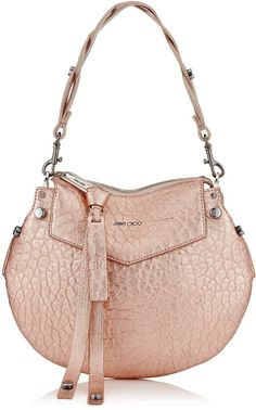 0d9fe748e54 Jimmy Choo ARTIE MINI Rose Gold Metallic Grainy Leather Shoulder Bag Fendi  Spy Bag, Mini