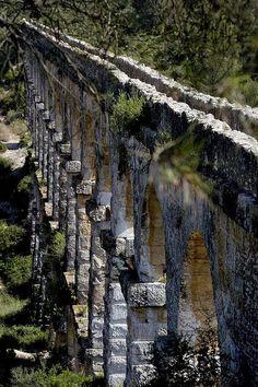 Interesting Tarragona's ancient roman aqueduct, Spain