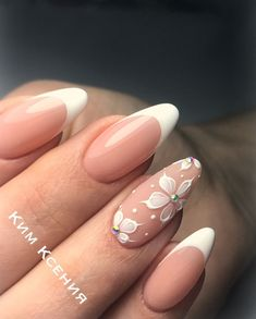 Hochzeitsnägel - Bildideen - - Best Picture For vintage wedding nails manicures For Your Taste You are looking for something, and it is going to tell you exactly what y Frensh Nails, Cute Nails, Nail Manicure, Pretty Nails, Nail Polish, Nails 2018, Dark Nails, Vintage Wedding Nails, Simple Wedding Nails