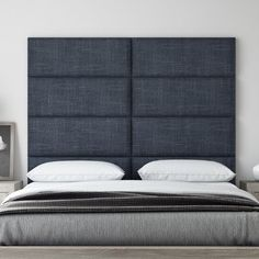 """Vant Panels Upholstered Panel Headboard Upholstery: Midnight Blue, Size: 46"""" H x 30"""" W x 3"""" D"""