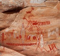 serra da capivara pinturas rupestres - Pesquisa Google