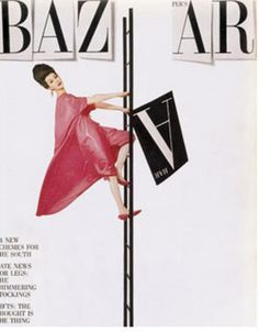 cMag130 - Harper´s Bazaar Magazine cover by Henry Wolf / Photo by Richard Avedon / June 1958