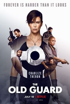 The poster for Netflix comic book adaptation The Old Guard, starring Charlize Theron. 2020 Movies, Hd Movies, Movies Online, Movies Free, Indie Movies, Comedy Movies, Film D'action, Film Serie, Movie Film