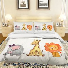 Organic Duvet Covers, Soft Duvet Covers, Bed Covers, Duvet Cover Sizes, Comforter Cover, Quilt Cover Sets, Giraffe, Elephant, Fashion D