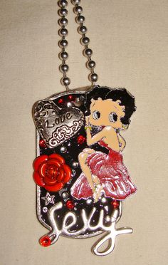 Betty Boop   Dog Tag Necklace by Foreverpeace on Etsy, $26.00