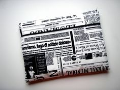 13 inch Laptop Sleeve Pocket Newspaper Handmade by Babimini, €27.00
