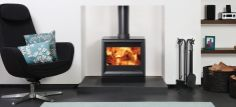 The Stovax View 8 Multifuel Stove. The View 8 stoves have a cast iron door and large glass window to enjoy the burning flames Wood, Contemporary Fireplace, Wood Fireplace, Natural Gas Stove, Stove Heater, Wood Fuel, Stove, Wood Burning, Wood Burning Stove