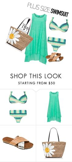 """bikini plus"" by pamela-802 ❤ liked on Polyvore featuring La Stampa, Kate Spade, stylishcurves and plussizeswimsuit"